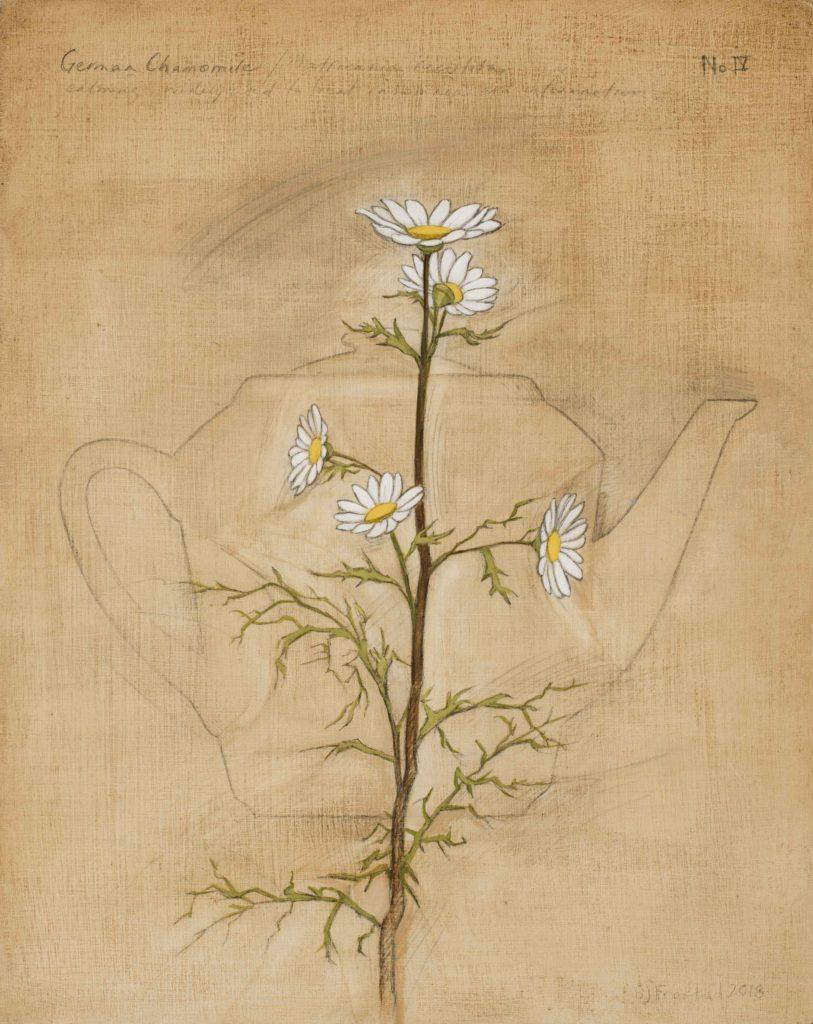 """Tea Leaves IV, 2018. Graphite & oil on wood panel, 10x8"""""""